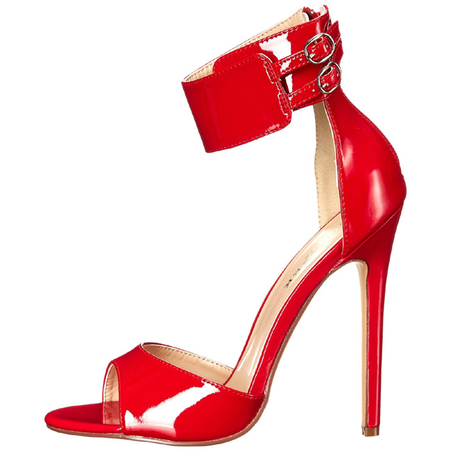 SEXY-19 sandales pleaser femme à talons rouge taille 37 - 38